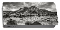Portable Battery Charger featuring the photograph The Road To Zion In Black And White by Tammy Wetzel