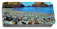 Glass Beach In Cali Portable Battery Charger