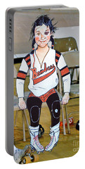The Roller Derby Girl With A Black Eye Portable Battery Charger