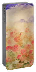 Portable Battery Charger featuring the painting The Rose Bush by Laurie L