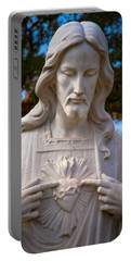 The Sacred Heart Portable Battery Charger by Linda Unger