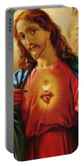The Sacred Heart Of Jesus Portable Battery Charger