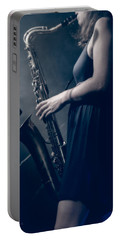 The Saxophonist Sounds In The Night Portable Battery Charger