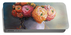 Portable Battery Charger featuring the painting The Scent Of Flowers by Vesna Martinjak