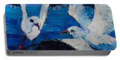 The Seagulls Portable Battery Charger by Mona Edulesco