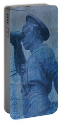 The Seaman In Blue Portable Battery Charger by Lesa Fine