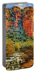Portable Battery Charger featuring the photograph The Secret Mountain Wilderness In Sedona Back Country by Bob and Nadine Johnston