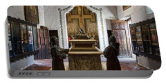 The Serra Cenotaph In Carmel Mission Portable Battery Charger by RicardMN Photography