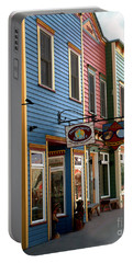 Portable Battery Charger featuring the photograph The Shops In Crested Butte by RC DeWinter