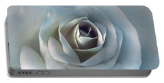 The Silver Luminous Rose Flower Portable Battery Charger