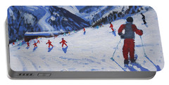 The Ski Instructor Portable Battery Charger by Andrew Macara