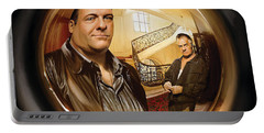 Portable Battery Charger featuring the painting The Sopranos  Artwork 1 by Sheraz A