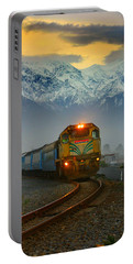The Southerner Train New Zealand Portable Battery Charger by Amanda Stadther