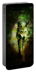 The Spirit Of The Wolf Portable Battery Charger by Absinthe Art By Michelle LeAnn Scott