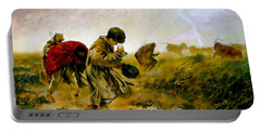 Portable Battery Charger featuring the painting The Storm by Henryk Gorecki