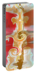 Portable Battery Charger featuring the digital art The Storm Tree by Kevin McLaughlin