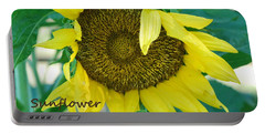 Sunflower Garden Portable Battery Charger by Lisa  DiFruscio