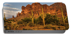 The Superstitions At Sunset  Portable Battery Charger