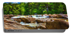 The Swift River Beside The Kancamagus Scenic Byway In New Hampshire Portable Battery Charger
