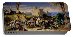 The Taking Of Beirut By The Crusaders Portable Battery Charger by Alexandre Jean Baptiste Hesse