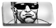 Portable Battery Charger featuring the painting Arnold Schwarzenegger by Salman Ravish