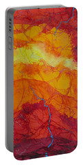 Portable Battery Charger featuring the mixed media The Thin Blue Line by Michele Myers