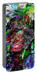 Portable Battery Charger featuring the digital art The Thinker by David Lane