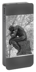The Thinker - Philadelphia Bw Portable Battery Charger