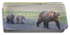 Portable Battery Charger featuring the photograph The Three Bears by Chris Scroggins