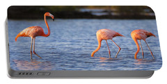 The Three Flamingos Portable Battery Charger