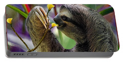 Portable Battery Charger featuring the photograph The Three-toed Sloth by Gary Keesler