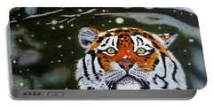 The Tiger In Winter Portable Battery Charger