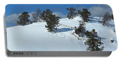 Portable Battery Charger featuring the photograph The Trees Take A Snow Day by Michele Myers