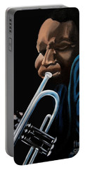 Portable Battery Charger featuring the painting The Trumpeter by Barbara McMahon
