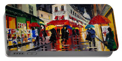 The Umbrellas Of Montmartre Portable Battery Charger