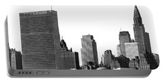 The Un And Chrysler Buildings Portable Battery Charger