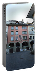Portable Battery Charger featuring the photograph The Upper Town by Felicia Tica
