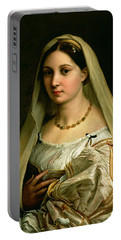 The Veiled Woman, Or La Donna Velata, C.1516 Oil On Canvas Portable Battery Charger