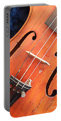 The Violin And The Memory Of Music In New Orleans Louisiana Portable Battery Charger by Michael Hoard