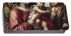 The Virgin And Child, Saint John The Baptist And An Angel Portable Battery Charger