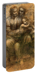 The Virgin And Child With Saint Anne And Saint John The Baptist Portable Battery Charger