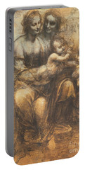 The Virgin And Child With Saint Anne And The Infant Saint John The Baptist Portable Battery Charger