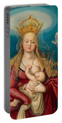 The Virgin As Queen Of Heaven Suckling The Infant Christ Portable Battery Charger