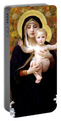 The Virgin Of The Lilies Portable Battery Charger