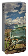 Portable Battery Charger featuring the photograph The Wagon by Peggy Hughes