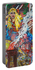 The Warrior Queen Portable Battery Charger by Alys Caviness-Gober