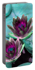 Portable Battery Charger featuring the photograph The Water Lilies Collection - Photopower 1124 by Pamela Critchlow
