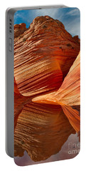 Portable Battery Charger featuring the photograph The Wave With Reflection by Jerry Fornarotto