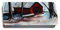 Portable Battery Charger featuring the painting The Way Home by Meaghan Troup