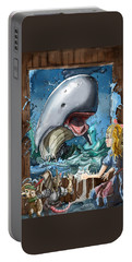 Portable Battery Charger featuring the painting The Whale by Reynold Jay
